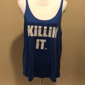"Funky Yoga Royal Blue ""Killin' It"" Tank Top"